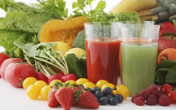 Frutta e verdura per centrifugati