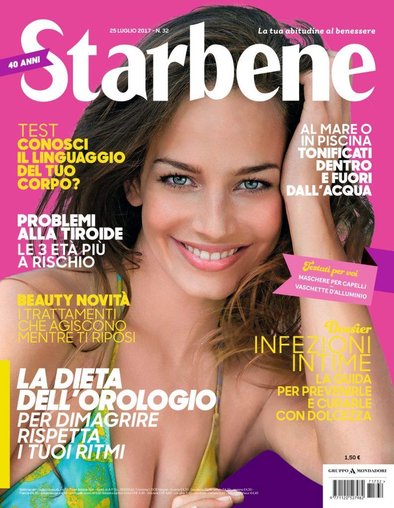Copertina della rivista Starbene del mese di luglio 2017 - articolo di Simona Oberhammer sul metodo biotipi Oberhammer