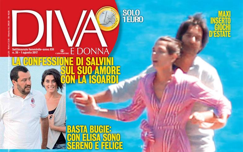 Copertina Rivista Diva e Donna Agosto 2017 - Articolo sui Biotipi