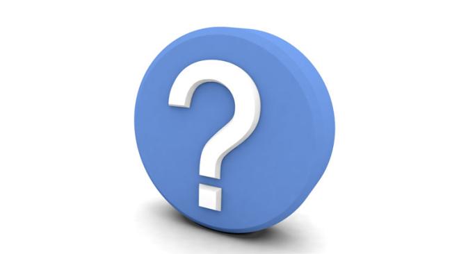 punto di domanda blu